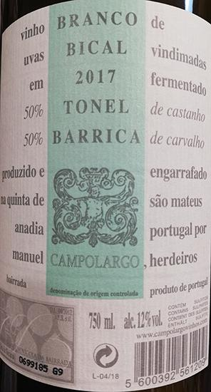 Campolargo Bical Barrica Branco
