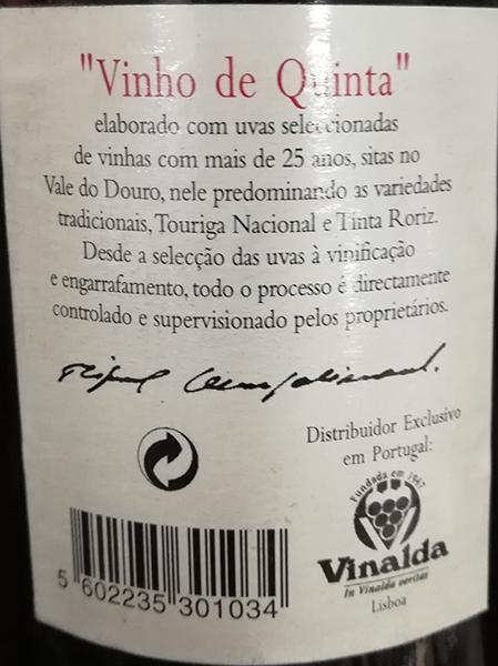 Quinta do Cotto Grande Escolha 2001 Tinto
